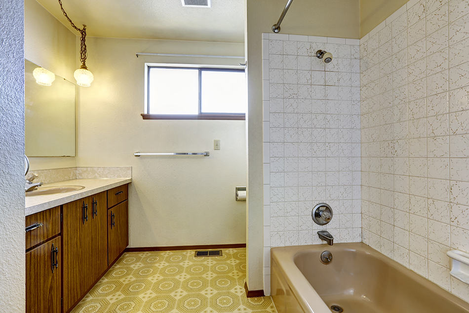 How to cover bathroom tiles