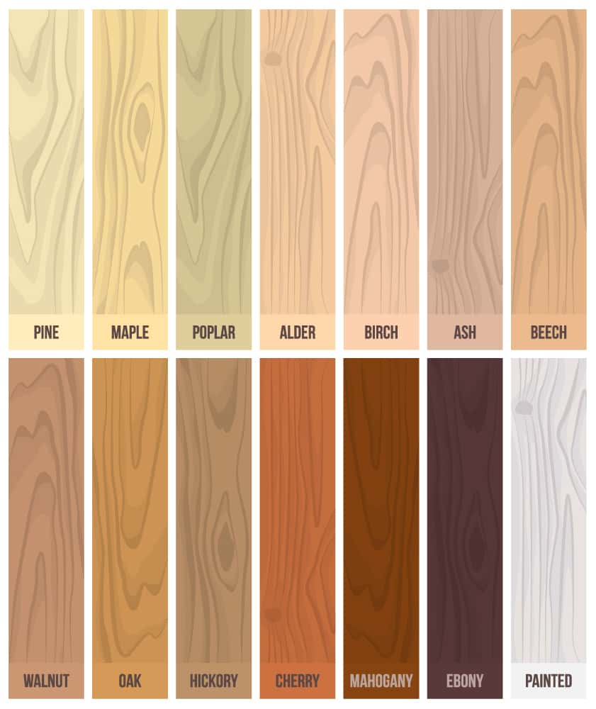Common solid wood swatch color set