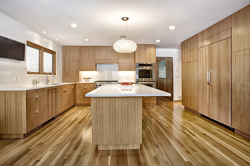 White Oak Wood Kitchen Cabinets