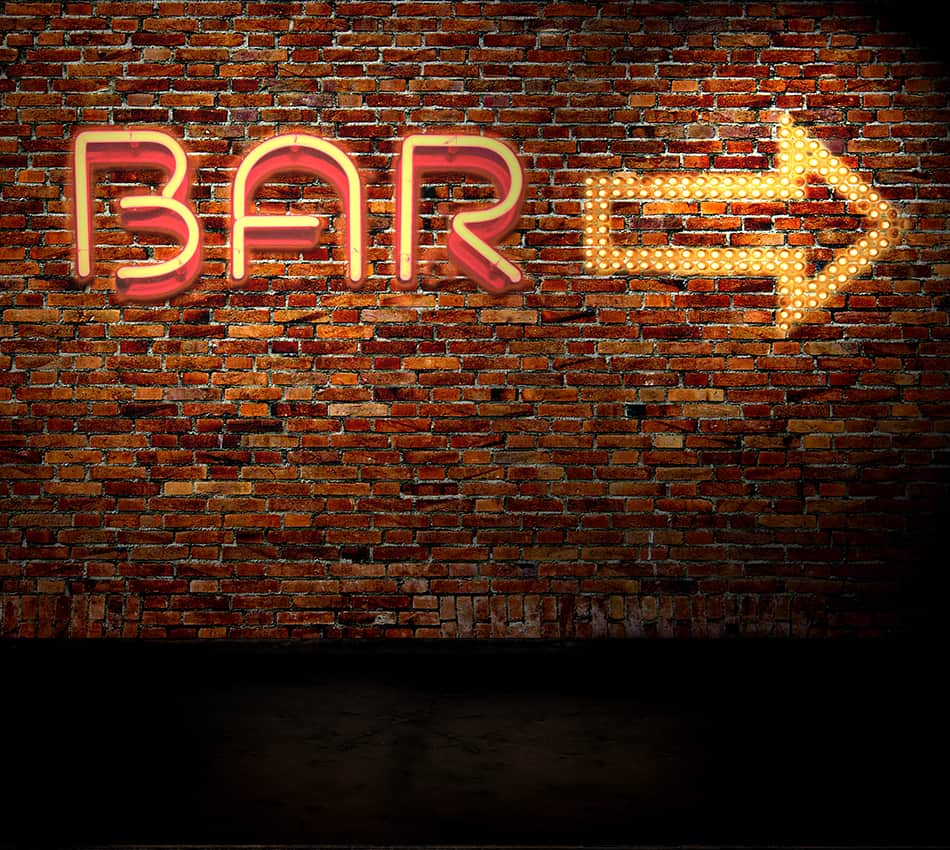 Pointing Bar Sign