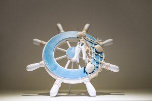 Large Ship Wheel Decor