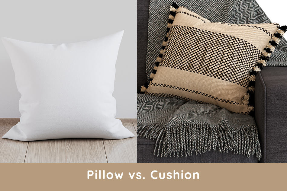 Pillow vs. Cushion – What Are the Differences?