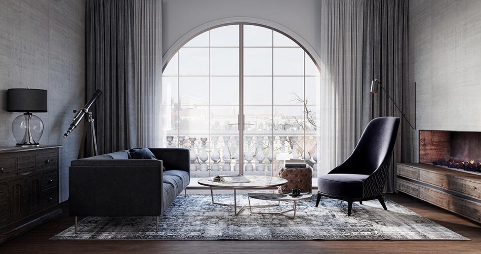 Rustic Burlap Curtains