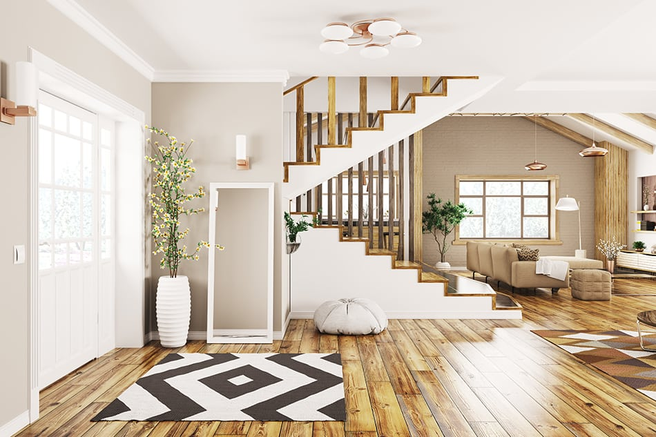 Wood Floors Match Throughout House