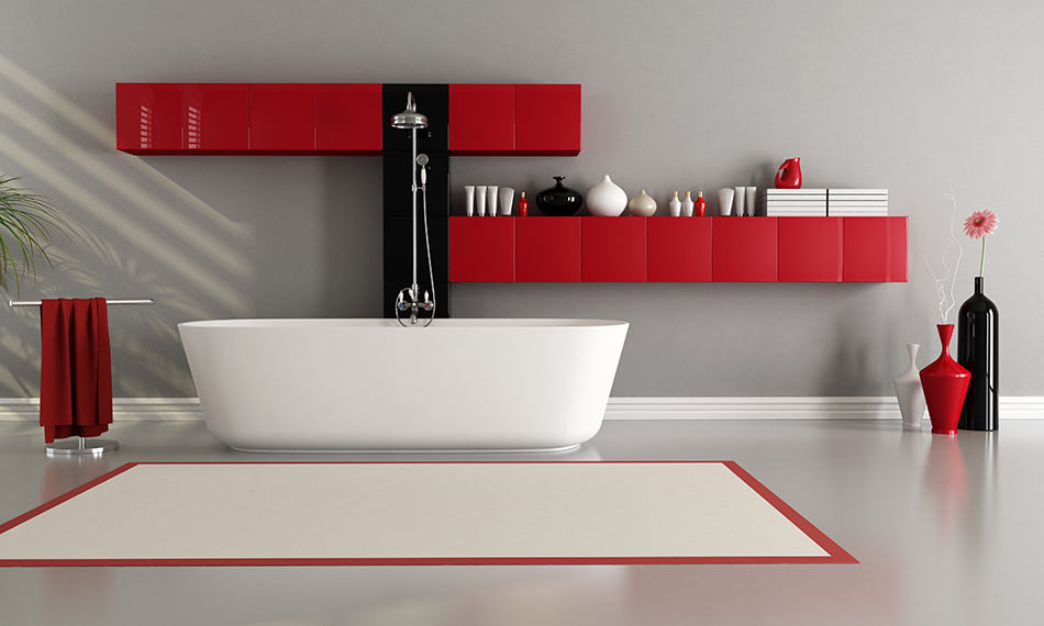 12 Bold and Beautiful Grey and Red Bathroom Ideas
