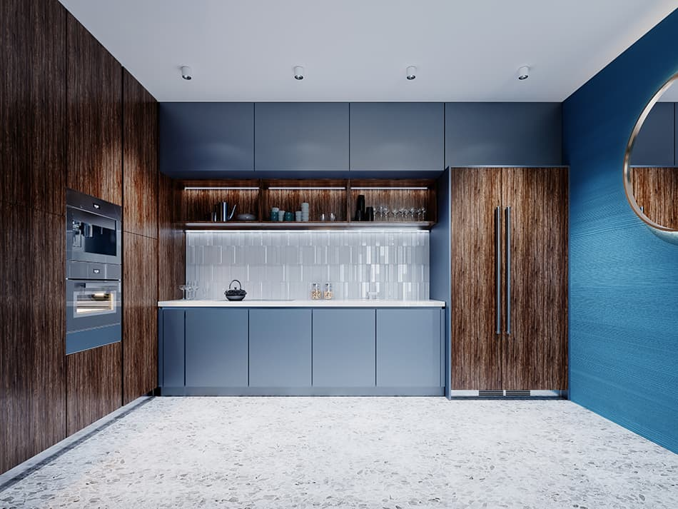 7 Brown Blue Kitchen Ideas for a Colorful Cooking Space