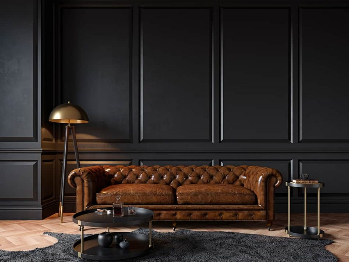 Which Wall Paint Colors Go With Dark, What Colour To Paint My Living Room With Brown Furniture