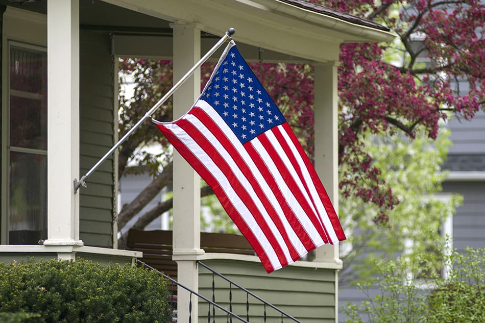 Where to Hang Flag on Front of House