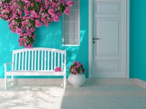 Best Front Door Colors for a Blue House