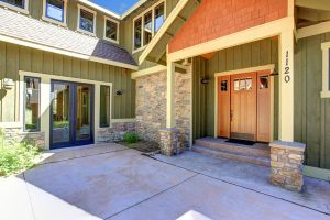 Best Front Door Colors for a Green House