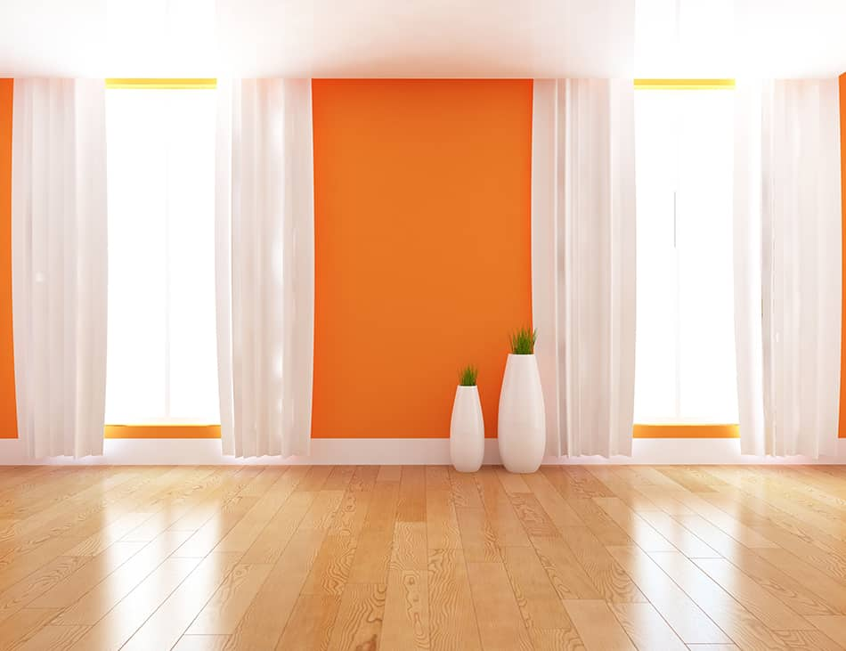What Color Curtains Go With Orange Walls?