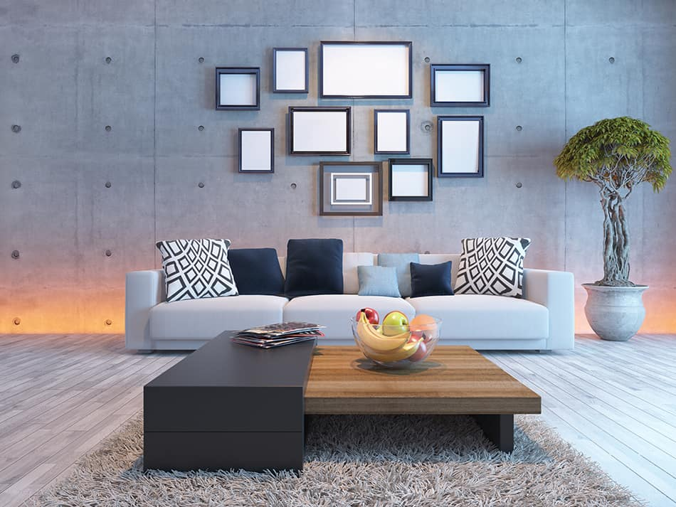 How to Hang Picture on Concrete Wall