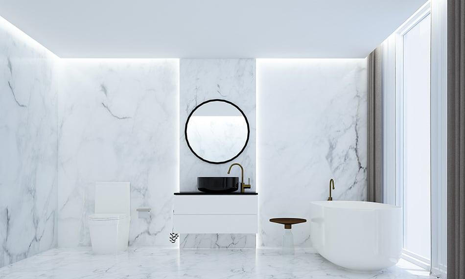 Ideas for bathroom walls instead of tiles