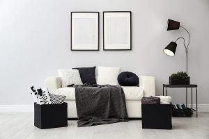 11 Sophisticated Black and White Living Room Ideas for Added Drama