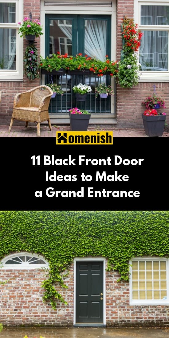 11 Black Front Door Ideas to Make a Grand Entrance