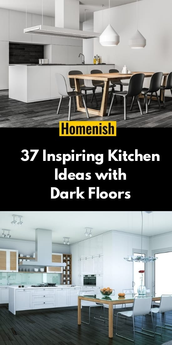 37 Inspiring Kitchen Ideas with Dark Floors
