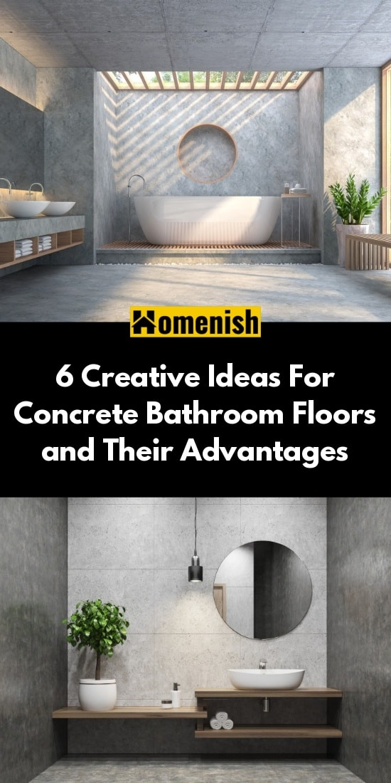 6 Creative Ideas For Concrete Bathroom Floors and Their Advantages