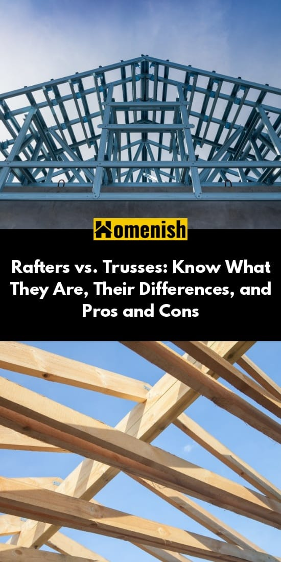 Rafters vs. Trusses: Know What They Are, Their Differences, and Pros and Cons